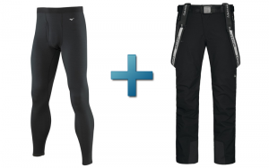 collants techniques + pantalon de ski